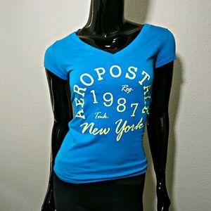 Aeropostale Tee Blue Short Sleeve T-Shirt